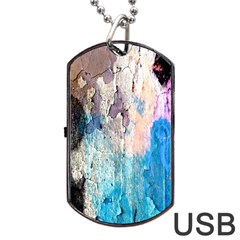 Peelingpaint Dog Tag Usb Flash (two Sides) by theunrulyartist