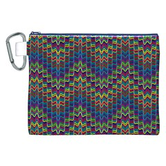 Decorative Ornamental Abstract Canvas Cosmetic Bag (XXL)