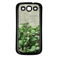 Plants Against Concrete Wall Background Samsung Galaxy S3 Back Case (black) by dflcprints