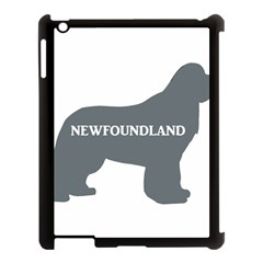 Newfie Name Silo Grey Apple iPad 3/4 Case (Black) by TailWags