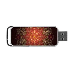 Floral Kaleidoscope Portable USB Flash (Two Sides) by Nexatart