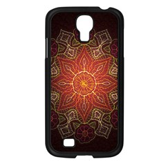 Floral Kaleidoscope Samsung Galaxy S4 I9500/ I9505 Case (Black)