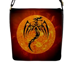 Dragon Fire Monster Creature Flap Messenger Bag (l)  by Nexatart