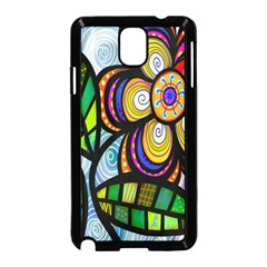 Folk Art Flower Samsung Galaxy Note 3 Neo Hardshell Case (black) by Nexatart