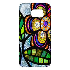 Folk Art Flower Galaxy S6 by Nexatart