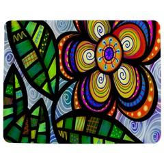 Folk Art Flower Jigsaw Puzzle Photo Stand (rectangular) by Nexatart