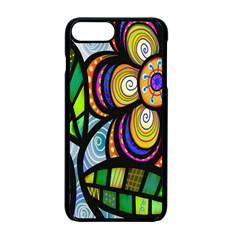 Folk Art Flower Apple Iphone 7 Plus Seamless Case (black) by Nexatart