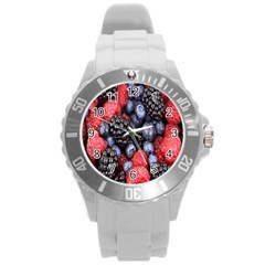 Forest Fruit Round Plastic Sport Watch (l) by Nexatart