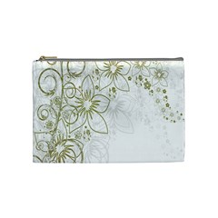 Flowers Background Leaf Leaves Cosmetic Bag (medium)  by Nexatart