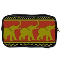 Elephant Pattern Toiletries Bags 2 Side by Nexatart