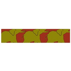 Elephant Pattern Flano Scarf (small) by Nexatart