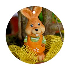 Easter Hare Easter Bunny Ornament (Round)