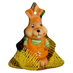 Easter Hare Easter Bunny Christmas Tree Ornament (two Sides) by Nexatart