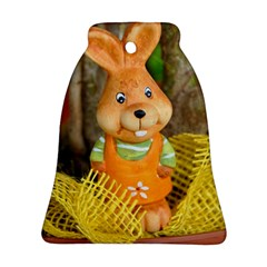 Easter Hare Easter Bunny Bell Ornament (Two Sides) by Nexatart