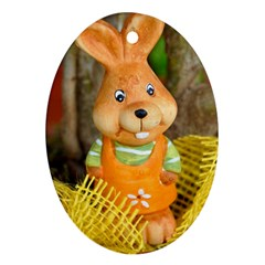 Easter Hare Easter Bunny Ornament (Oval) by Nexatart