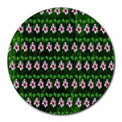 Floral Pattern Round Mousepads by Nexatart