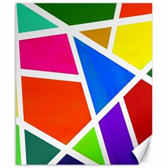Geometric Blocks Canvas 8  X 10  by Nexatart
