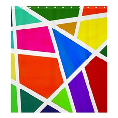 Geometric Blocks Shower Curtain 66  X 72  (large)  by Nexatart