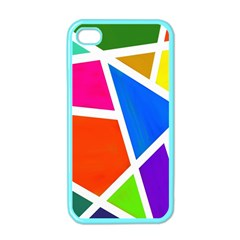 Geometric Blocks Apple Iphone 4 Case (color) by Nexatart