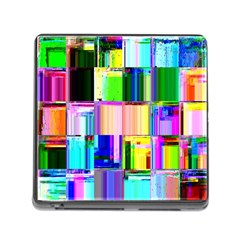 Glitch Art Abstract Memory Card Reader (Square)