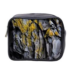 Grey Yellow Stone Mini Toiletries Bag 2-Side