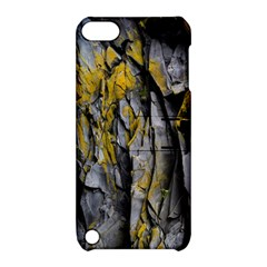 Grey Yellow Stone Apple iPod Touch 5 Hardshell Case with Stand by Nexatart