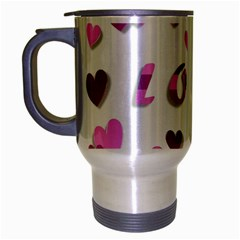 Love Valentine S Day 3d Fabric Travel Mug (silver Gray) by Nexatart