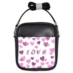 Love Valentine S Day 3d Fabric Girls Sling Bags by Nexatart