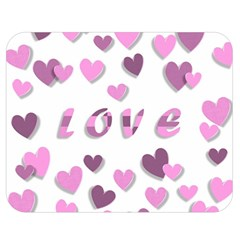 Love Valentine S Day 3d Fabric Double Sided Flano Blanket (medium)  by Nexatart