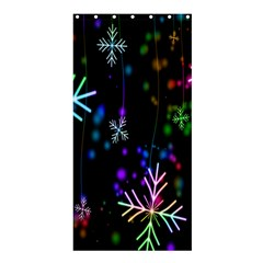 Nowflakes Snow Winter Christmas Shower Curtain 36  X 72  (stall)  by Nexatart