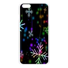 Nowflakes Snow Winter Christmas Apple Seamless iPhone 6 Plus/6S Plus Case (Transparent) by Nexatart
