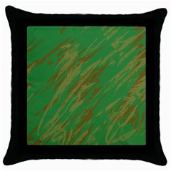 Brown green texture                                                  			Throw Pillow Case (Black)