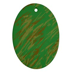 Brown Green Texture                                                  ornament (oval) by LalyLauraFLM