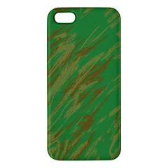 Brown Green Texture                                                 			iphone 5s Premium Hardshell Case by LalyLauraFLM