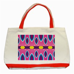 Ovals and stars                                                    Classic Tote Bag (Red) by LalyLauraFLM
