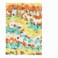 Retro Watercolors                                                      Small Garden Flag by LalyLauraFLM