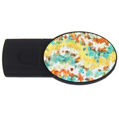 Retro Watercolors                                                      			usb Flash Drive Oval (4 Gb) by LalyLauraFLM
