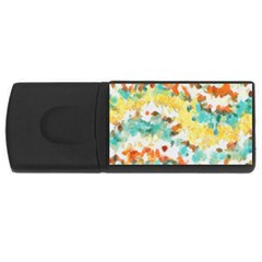 Retro Watercolors                                                      			usb Flash Drive Rectangular (4 Gb) by LalyLauraFLM