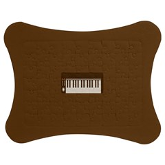 Keyboard Brown Jigsaw Puzzle Photo Stand (bow) by Jojostore