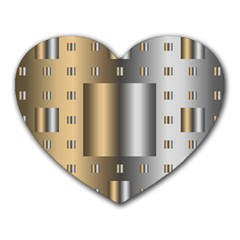 Gold Silver Carpet Heart Mousepads by Jojostore