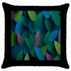Leaf Rainbow Throw Pillow Case (Black)