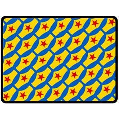 Images Album Heart Frame Star Yellow Blue Red Fleece Blanket (large)  by Jojostore