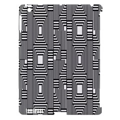 Line Hole Plaid Pattern Apple iPad 3/4 Hardshell Case (Compatible with Smart Cover)