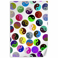 Ying Yang Seamless Color Cina Canvas 24  X 36  by Jojostore