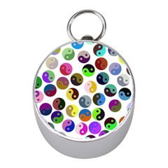 Ying Yang Seamless Color Cina Mini Silver Compasses by Jojostore