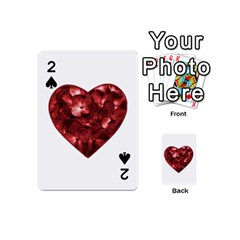 Floral Heart Shape Ornament Playing Cards 54 (mini)  by dflcprints