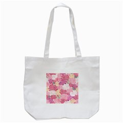 Peonies Flower Floral Roes Pink Flowering Tote Bag (white) by Jojostore