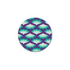 Purple Flower Fan Golf Ball Marker (10 Pack) by Jojostore