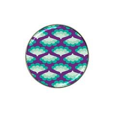 Purple Flower Fan Hat Clip Ball Marker (10 Pack) by Jojostore