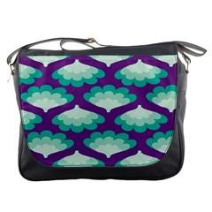 Purple Flower Fan Messenger Bags by Jojostore